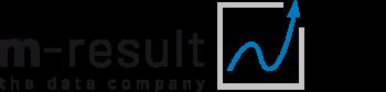 Logo m-result, the data company GmbH